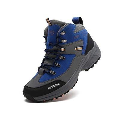 [RDGO] メンズ ハイキングシューズ トレッキングブーツ 登山靴 アウトドアシューズ 防滑 ローカット ウォーキングシューズ 防水 大きいサイズ