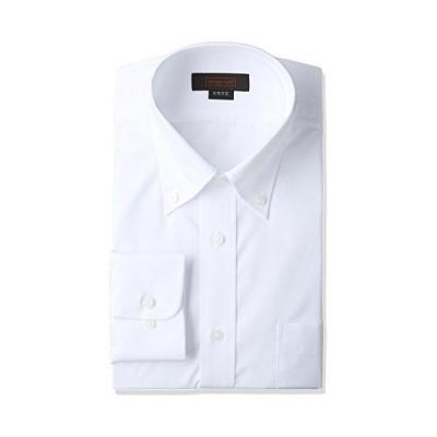 [スティングロード] 長袖 ボタンダウン 白ワイシャツ 形態安定 綿高率混 レギュラーフィット MA1113-BD-1 メンズ ホワイト 首