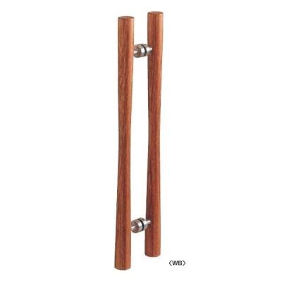 丸喜金属 W-630 400 マイウッド 大閣ドアーハンドル 両面用 40Φ サイズ:400 1組