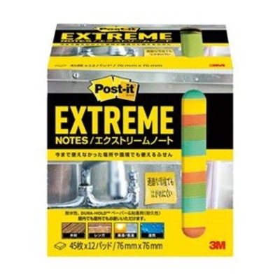 まとめ売り3M ポスト・イットエクストリームノート 76×76mm 4色 EXTRM33-12ASJ1 1パック(12冊) ×5セット 生活用品 インテリア 雑貨
