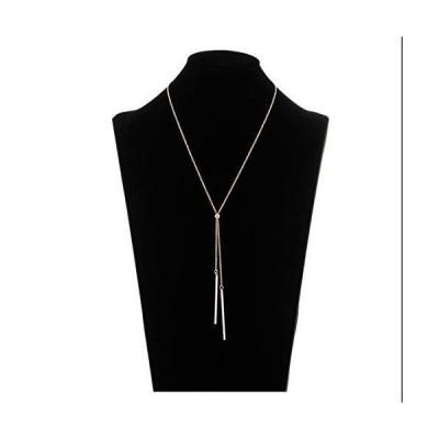 ネックレスlariatneck長いタッセルネックレスY Lariatロングチェーンドロップバー調節可能なネックレスの女性