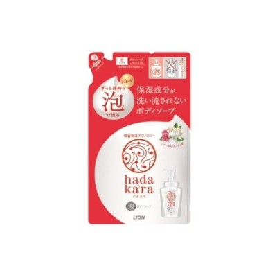 ライオン ハダカラ 泡ボディソープ フローラルブーケの香り 詰め替え 440ml /ハダカラ ボディソープ