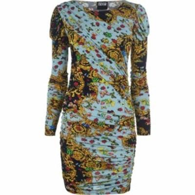 ヴェルサーチ VERSACE JEANS COUTURE レディース ワンピース ワンピース・ドレス bug Baroque Print Dress Mint