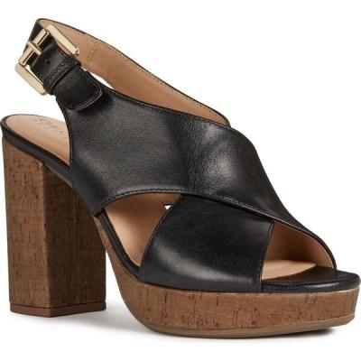 ジェオックス GEOX レディース サンダル・ミュール シューズ・靴 Gerbera Sandal Black Nappa Leather