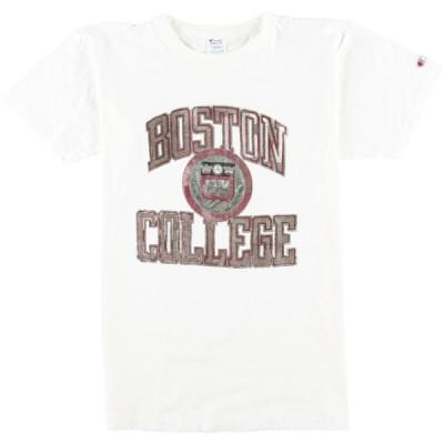 80年代 チャンピオン プリントTシャツ USA製 メンズM /eaa050533