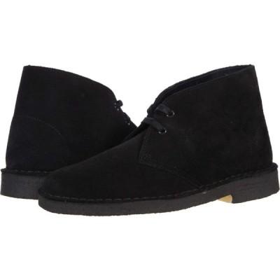 クラークス Clarks レディース ブーツ シューズ・靴 Desert Boot Black Suede 1