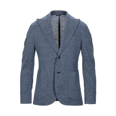 BRANDO テーラードジャケット ブルーグレー 48 リネン 54% / コットン 46% テーラードジャケット