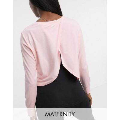 コットンオン Cotton:On Maternity レディース Tシャツ トップス active long sleeve top with cross back in pink