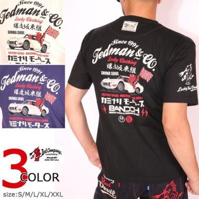 TEDMAN カミナリ コラボ 2000GT 半袖 Tシャツ TDKMT-11 エフ商会 テッドマン KAMINARI 雷