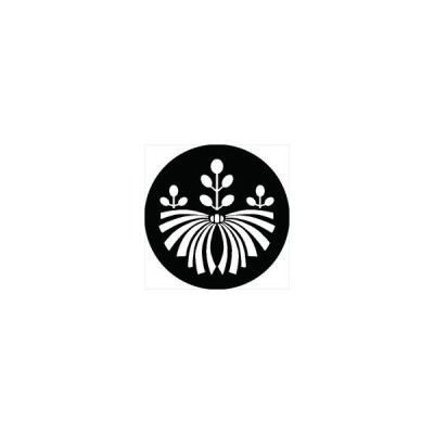 家紋シール 熨斗桐紋 直径4cm 丸型 白紋 4枚セット KS44M-3131W