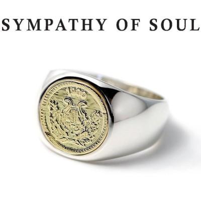 シンパシーオブソウル 指輪 SYMPATHY OF SOUL Classic Coin Ring Good Luck Silver K18Yellow Gold クラシック コイン リング グッドラック シルバー K18YG