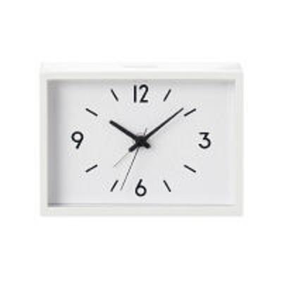 良品計画無印良品 駅の時計・アラームクロック・アイボリー 38673576 良品計画