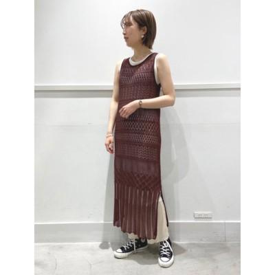 透かし編みワンピースセット