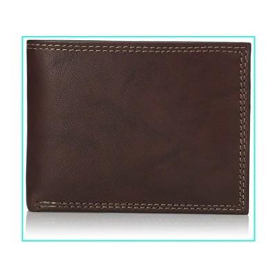 【新品】Buxton Men's Hunt Credit Card Billfold Wallet, Brown, One Size(並行輸入品)