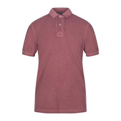 グラン サッソ GRAN SASSO ポロシャツ レンガ 50 コットン 100% ポロシャツ