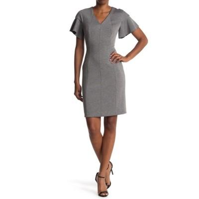 エリータハリ レディース ワンピース トップス Geraldine Flutter Sleeve Dress CHARCOAL