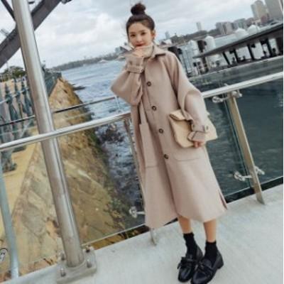 アウター レディース コート ロングコート レディース ロング 膝下丈 長袖 スリット 大きいサイズ カジュアル オフィス シンプル きれい