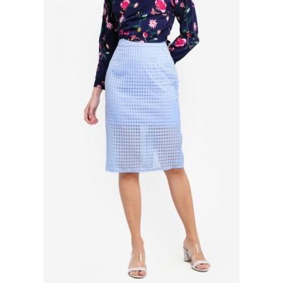 ザローラ ZALORA レディース ひざ丈スカート スカート Sheer Layered Skirt Blue