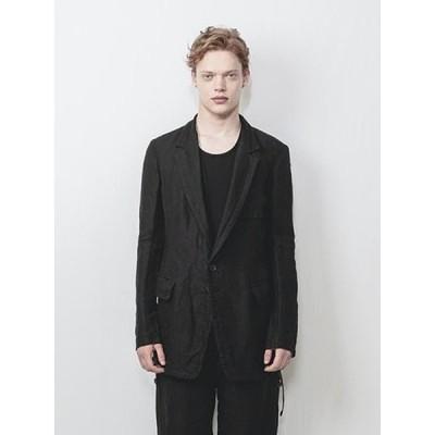 (予約品)1〜2月入荷予定/nude:masahiko maruyama ・ヌード:マサヒコマルヤマ/Japanese Paper Dobby Cloth 2 Buttons Jacket/BLK