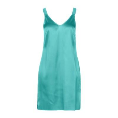 カルラ ジー CARLA G. ミニワンピース&ドレス グリーン 40 アセテート 73% / シルク 23% / ポリウレタン 4% ミニワンピー