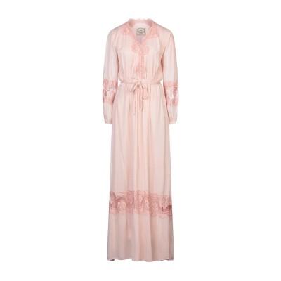 ピンク メモリーズ PINK MEMORIES ロングワンピース&ドレス ピンク 42 レーヨン 100% / コットン / ナイロン ロングワンピ