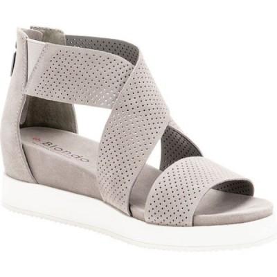 ブロンド Blondo レディース サンダル・ミュール シューズ・靴 Cassie Waterproof Sandal Light Grey Suede