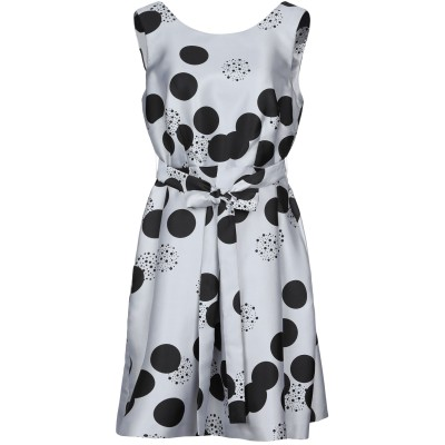 LANACAPRINA ミニワンピース&ドレス ライトグレー 42 ポリエステル 100% ミニワンピース&ドレス