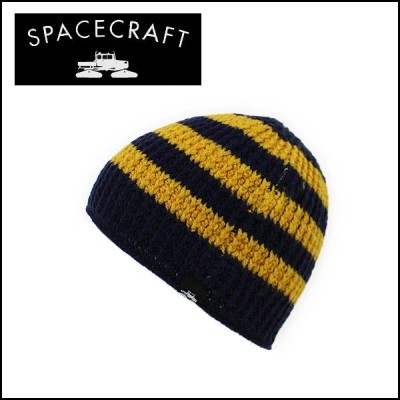 SPACECRAFT/スペースクラフト ビーニー Standard Stripe/Navy/Mustard 日本正規品 【メール便・代引不可】