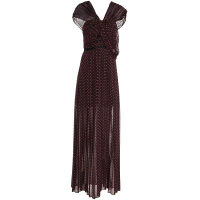 SELF-PORTRAIT ロングワンピース&ドレス ダークブルー 8 ポリエステル 100% ロングワンピース&ドレス