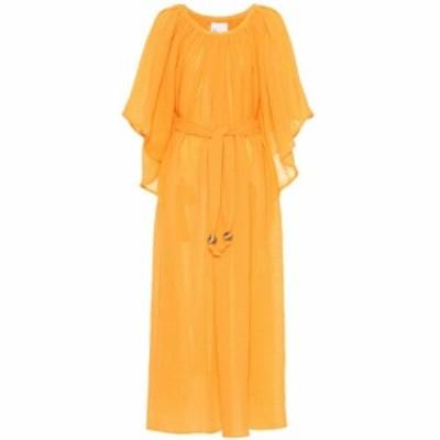 リサ マリー フェルナンデス Lisa Marie Fernandez レディース ワンピース ワンピース・ドレス Angel Sleeve linen-blend maxi dress saf