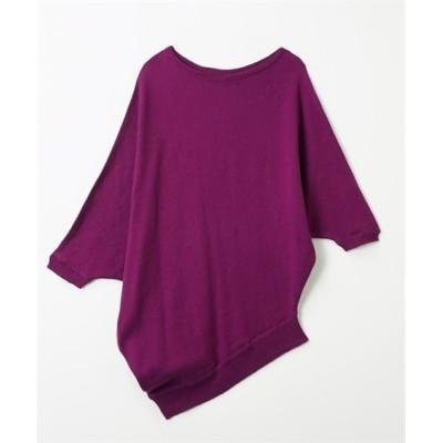 綿100%変形ドルマンニット (ニット・セーター)(レディース)Knitting, Sweater, テレワーク, 在宅, リモート