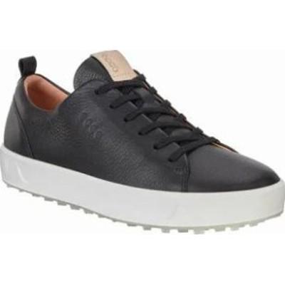 ECCO レディーススニーカー ECCO Golf Soft Low Hydromax Sneaker Black Leather