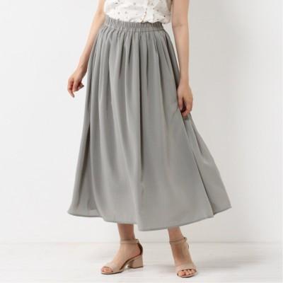 ウエストゴムで調節しやすい◎サテンギャザースカート