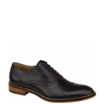 ジョンストンアンドマーフィー メンズ ドレスシューズ シューズ Men's Conard Cap-Toe Wingtip Detail Oxfords Black