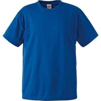 Tシャツ 無地 半袖 無地 トップス 4.1oz ドライアスレチックTシャツ コバルトブルー  (UNA)(CQB27)