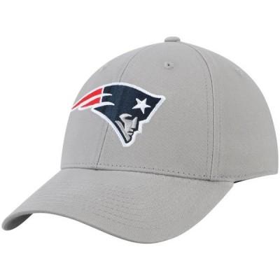 メンズ スポーツリーグ フットボール Men's Gray New England Patriots Basic Adjustable Hat - OSFA 帽子