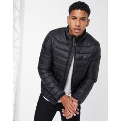 カルバンクライン メンズ ジャケット・ブルゾン アウター Calvin Klein recycled nylon jacket in black Ck black