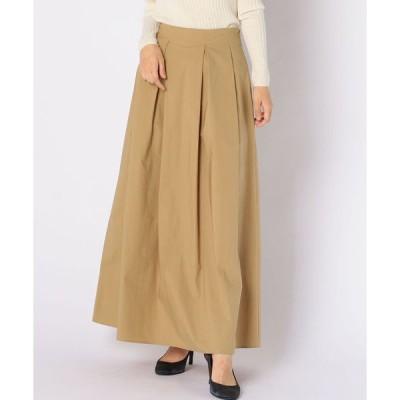 スカート タックマキシスカート