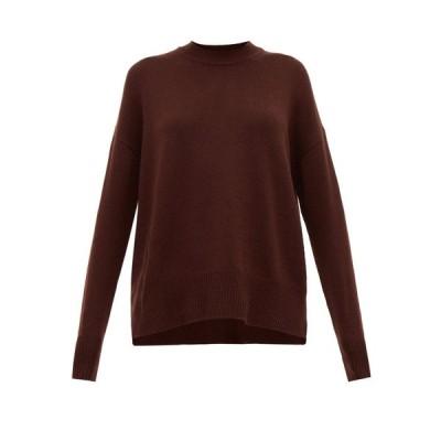 ジル サンダー Jil Sander レディース ニット・セーター トップス Dropped-sleeve cashmere sweater Brown