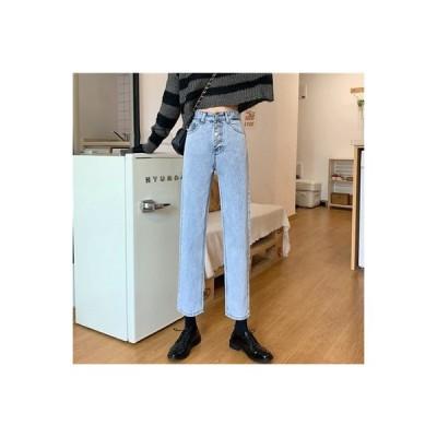 【送料無料】レディース 秋 韓国風 ファッション 小 個 息子 ハイウエスト 着やせ ジ   364331_A63593-4725144