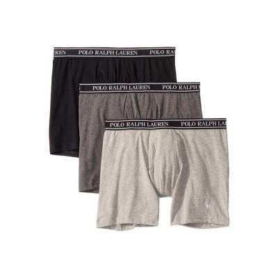 ラルフ ローレン Polo Ralph Lauren メンズ ボクサーパンツ 3点セット 3-Pack Stretch Classic Fit Boxer Briefs Andover Heather/Charcoal Heather/Polo Black