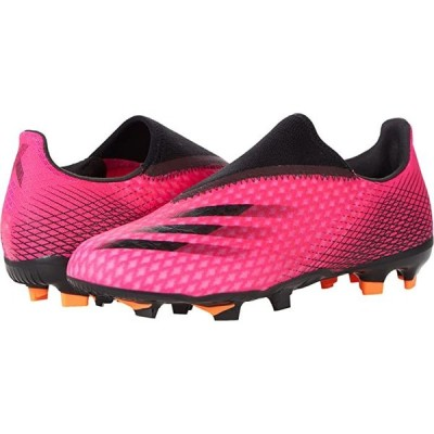 (取寄)アディダス ファーム グランド adidas X Ghosted.3 Laceless Firm Ground Shock Pink/Black/Screaming Orange