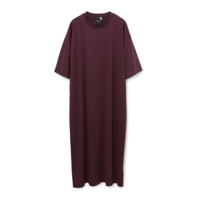 ADAM ET ROPE'/アダム エ ロペ 【ATON】 OVERSIZED DRESS ワイン系(67) 1