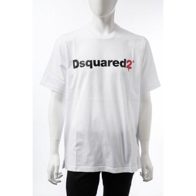 ディースクエアード Tシャツ 半袖 丸首 クルーネック メンズ S74GD0565S22427 ホワイト DSQUARED2