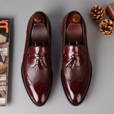 本革 ビジネスシューズ メンズ レザー ウィングチップ レース メンズシューズ 結婚式 フォーマル ビジネス 革靴 紳士靴