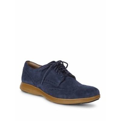 コールハーン メンズ シューズ オックスフォード 革靴 Wingtip Suede Derby Shoes