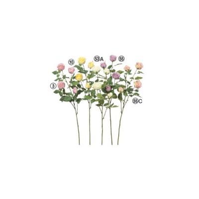 造花 花のみ ローズ×4〔×12本入り〕アレンジメント/花材/アートフラワー/インテリア