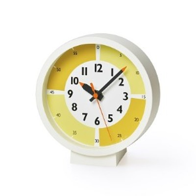 fun pun clock with color! for table / イエロー (YD18-05 YE)Lemnos レムノス  時計
