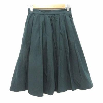 【中古】ロペピクニック ROPE Picnic フレアスカート ひざ丈 36 緑 グリーン /CT レディース