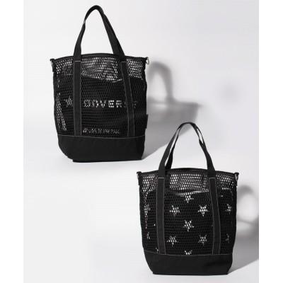 【ユグランス】 MESH STAR PRINT 2WAY SHOULDER BAG ユニセックス ブラック FREE JUGLANS
